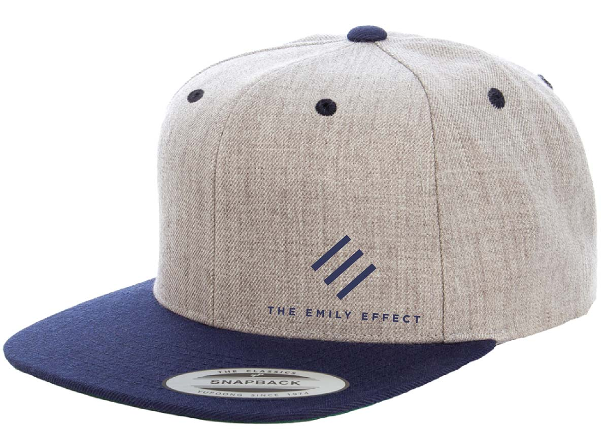 bdb03395707 Snapback Two-Tone Flat Brim Hat - The Emily Effect